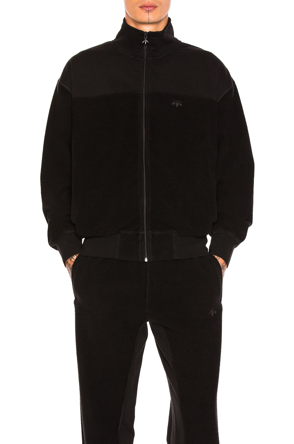 adidas by Alexander Wang Inout Zip Up Jacket in Black
