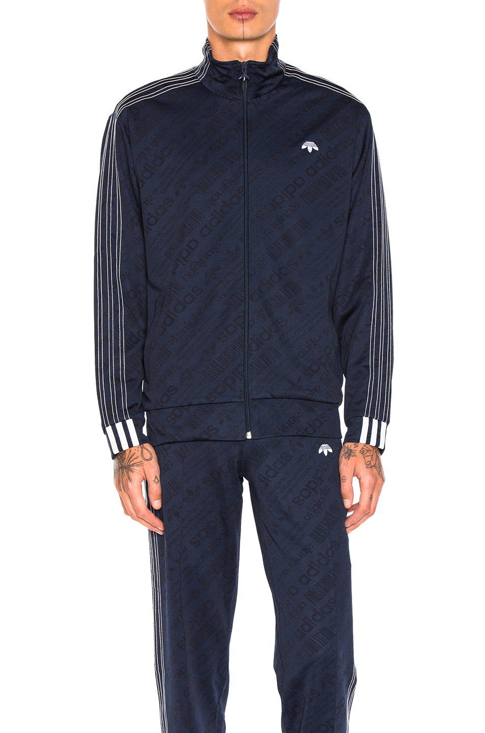 adidas by Alexander Wang Jacquard Track Jacket in Blue