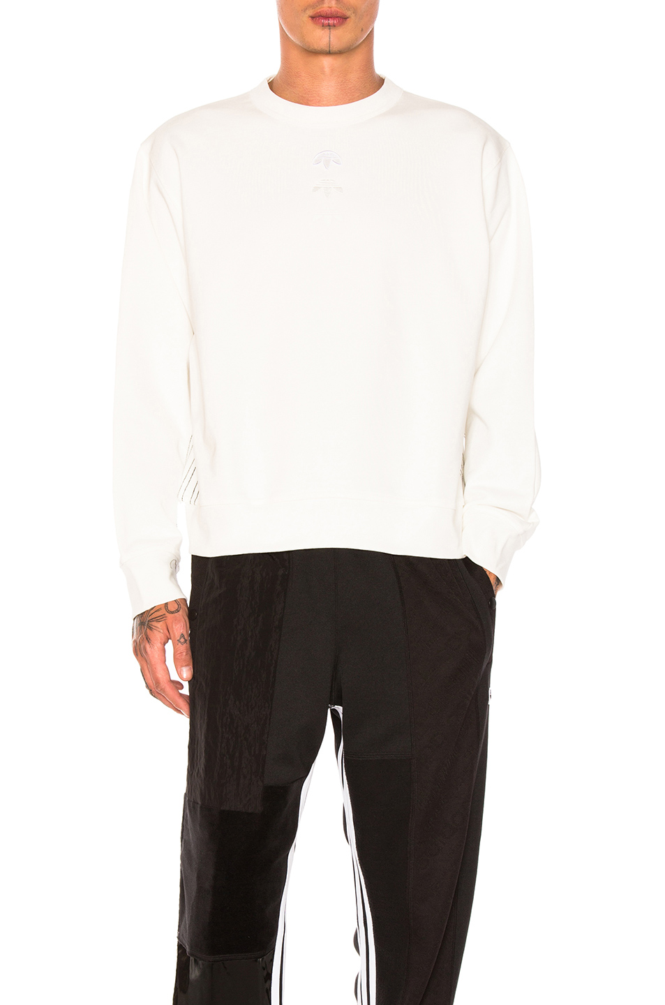 adidas by Alexander Wang Logo Crew in White