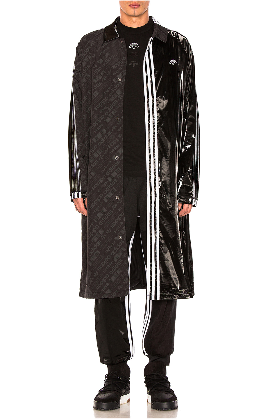 adidas by Alexander Wang Patch Coat in Black