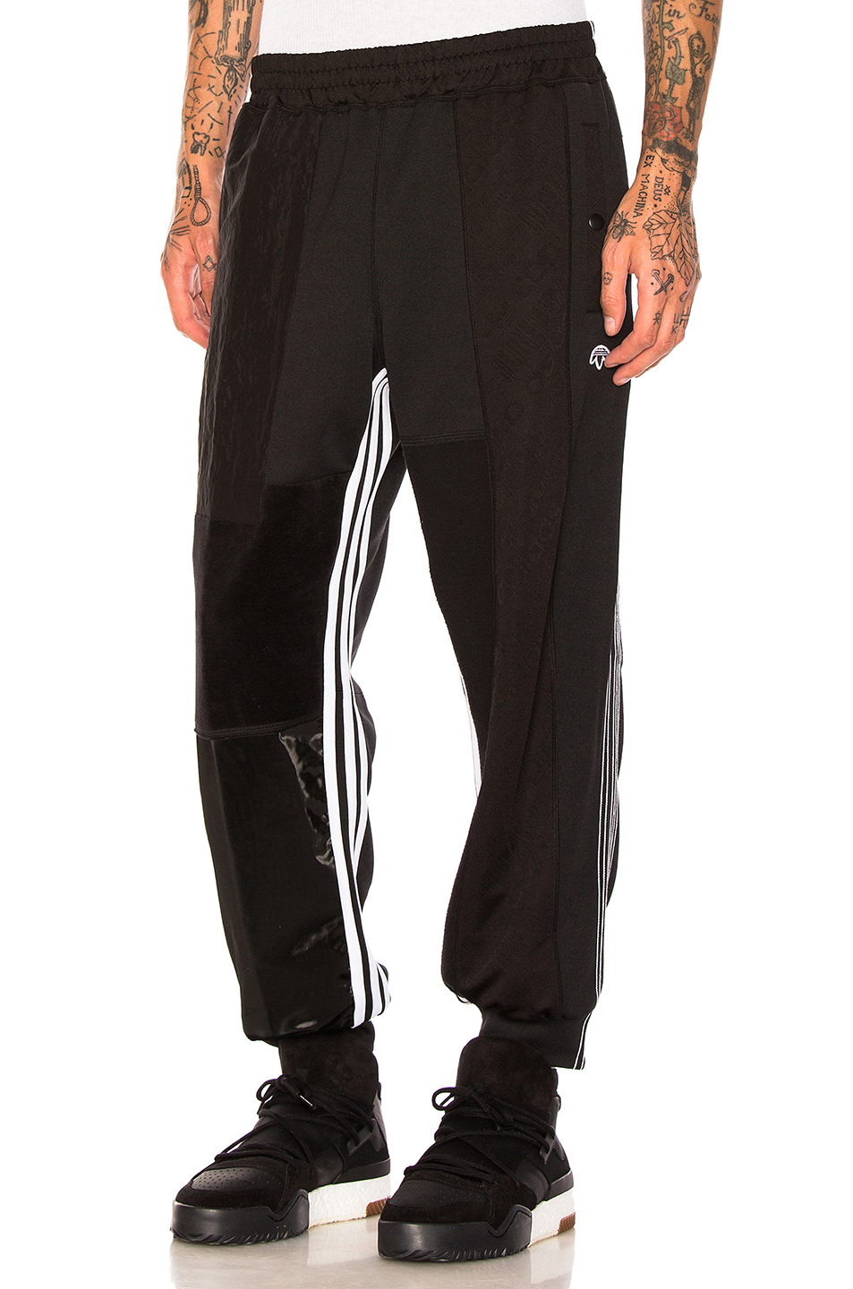 adidas by Alexander Wang Patch Track Pants in Black