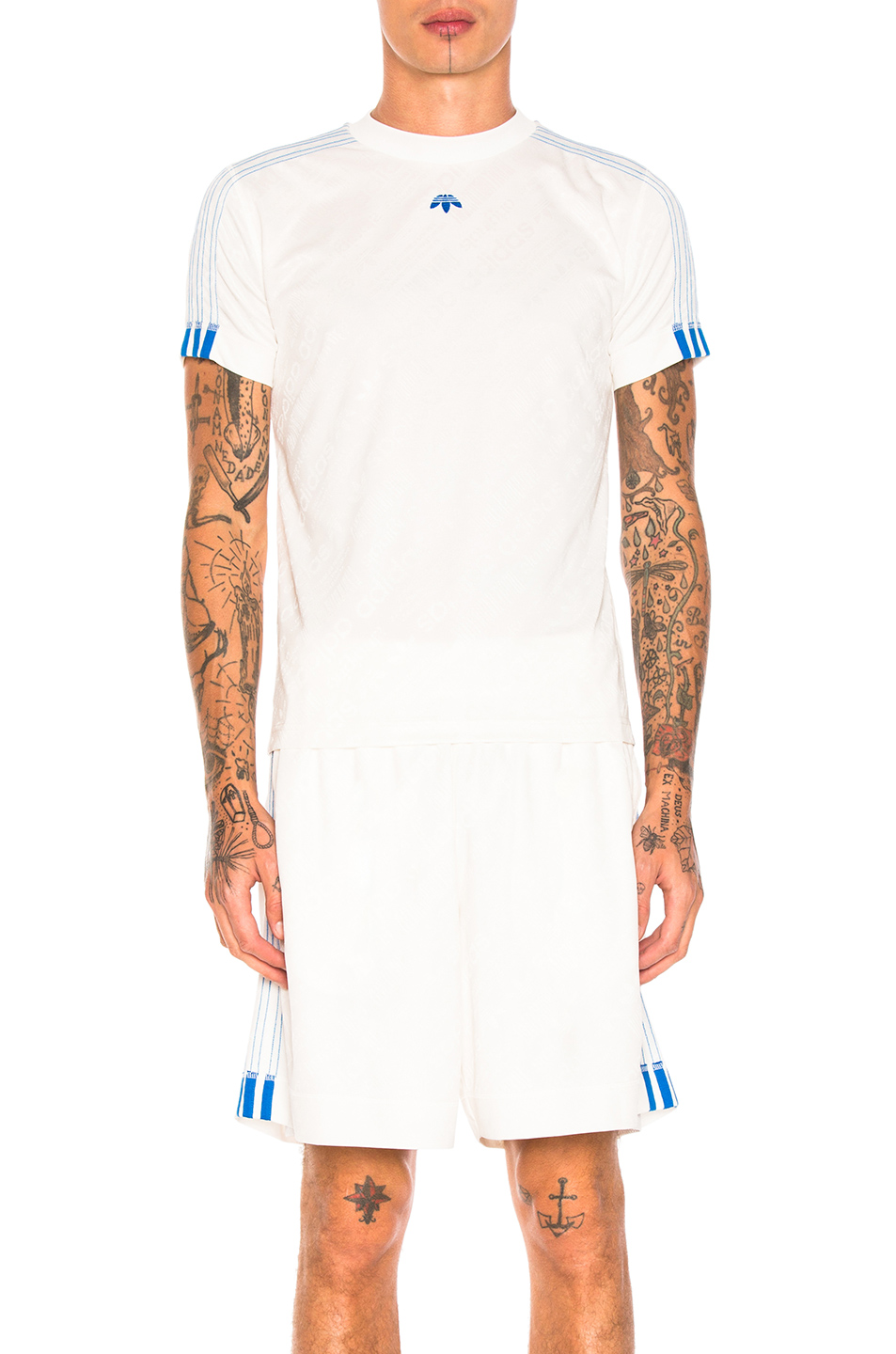 adidas by Alexander Wang Soccer Jersey Top in White
