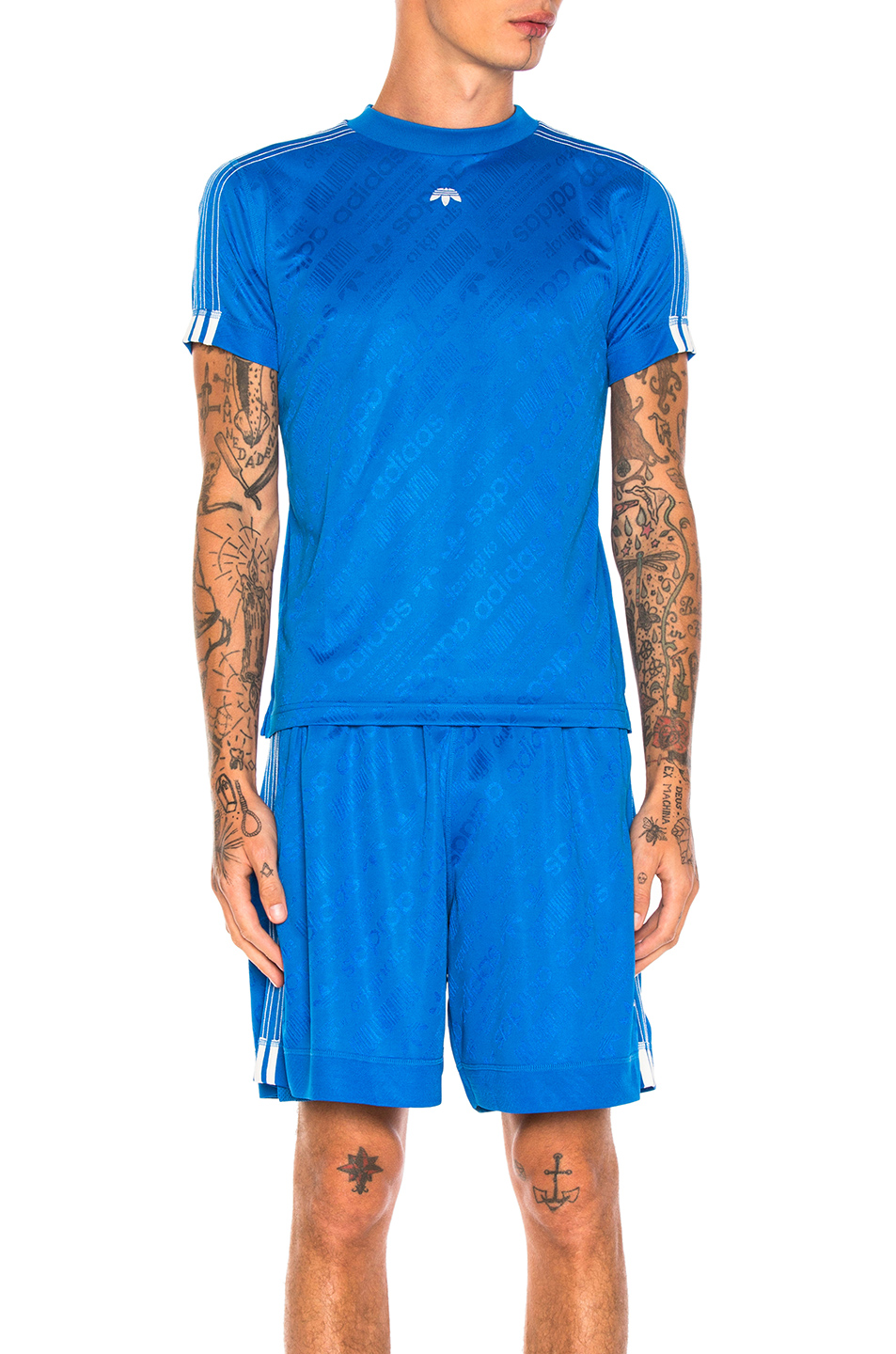 adidas by Alexander Wang Soccer Jersey Top in Blue