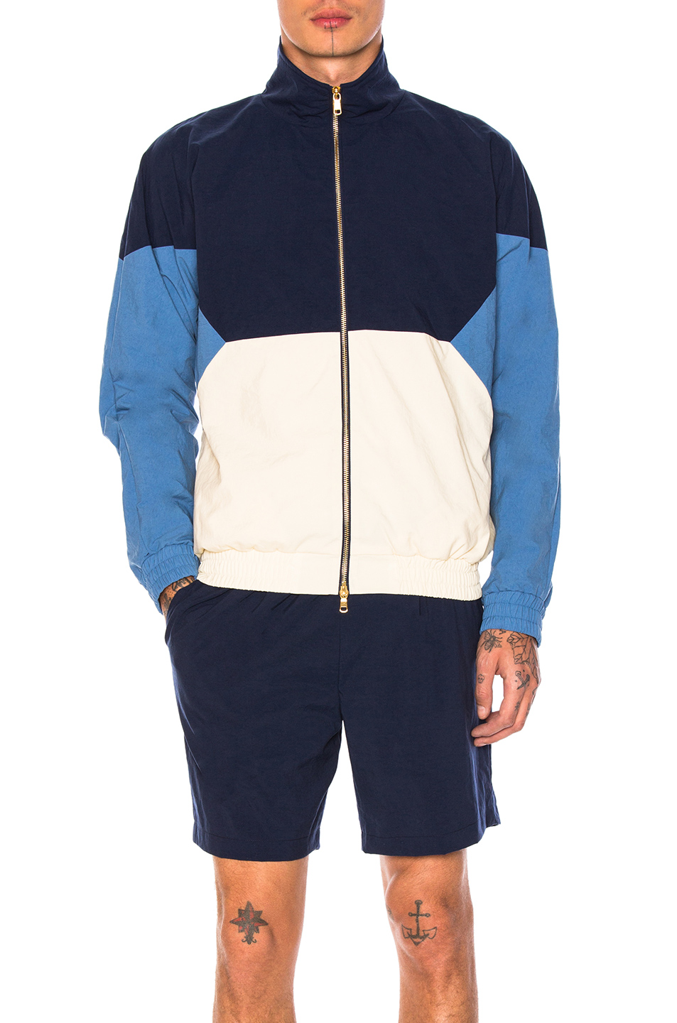 Photo of Aime Leon Dore Full Zip Windbreaker in Blue - shop Aime Leon Dore menswear