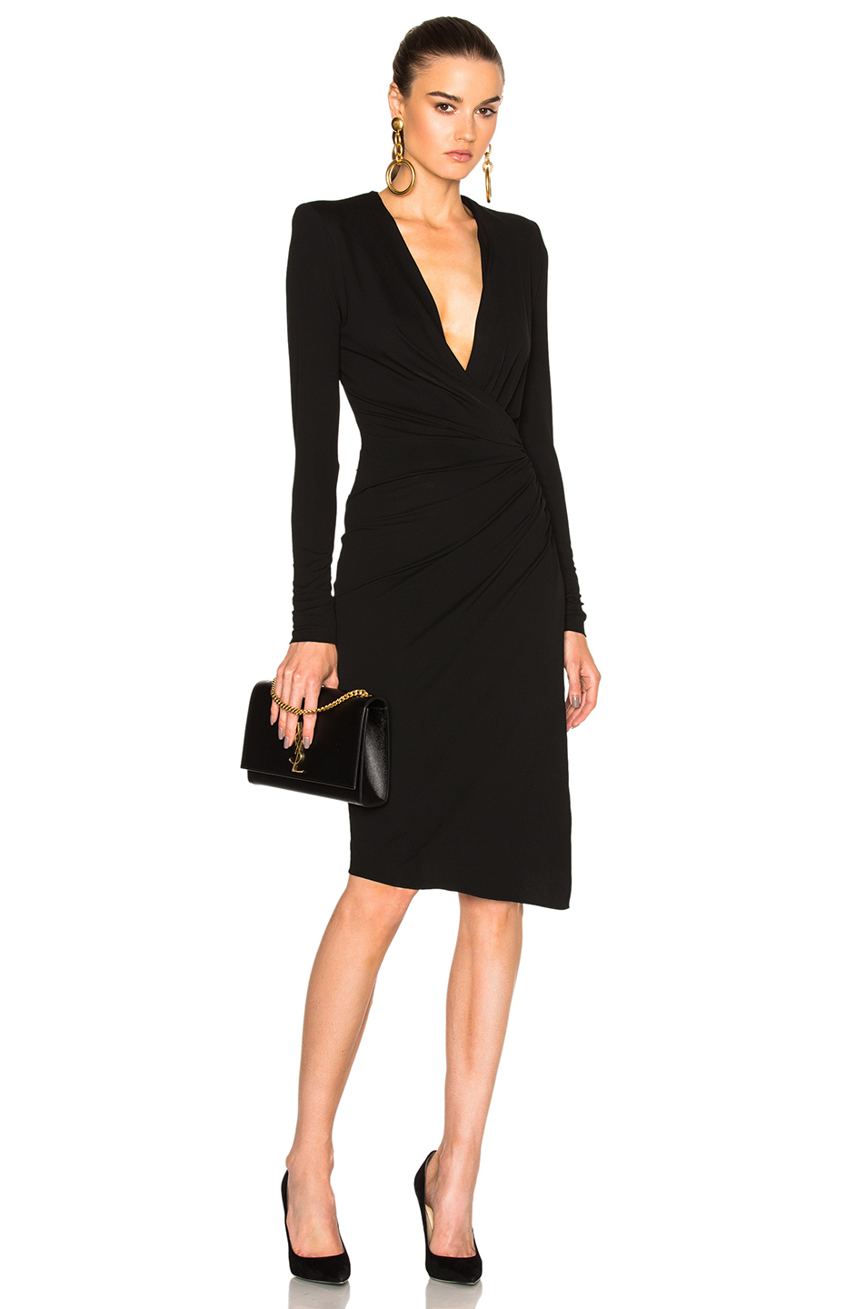 Alexandre Vauthier Stretch Jersey Dress in Black