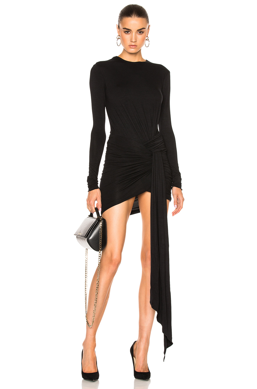 Alexandre Vauthier Soft Stretch Jersey Dress in Black