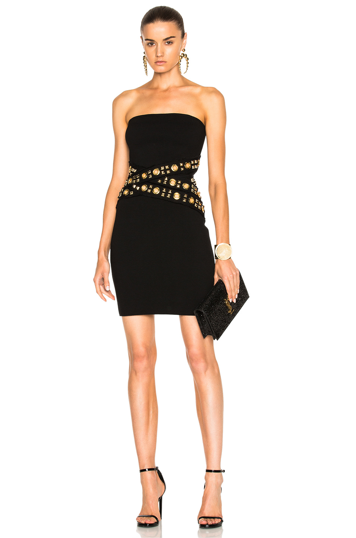 Alexandre Vauthier Strapless Waist Detail Dress in Black