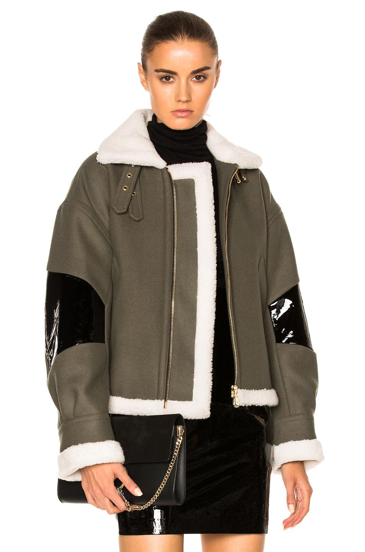 Alexandre Vauthier Wool Jacket in Green