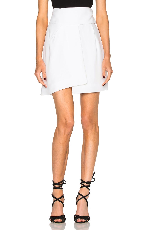 Alexandre Vauthier Crepe Skirt in White