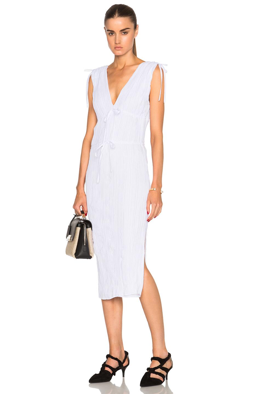 Altuzarra Navarre Featherweight Crepe Dress in White