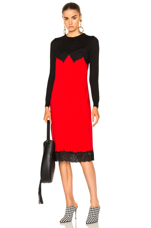Altuzarra Debbie Dress in Black,Red