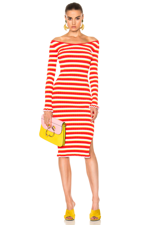 Altuzarra Socorro Dress in Pink,Stripes,Red
