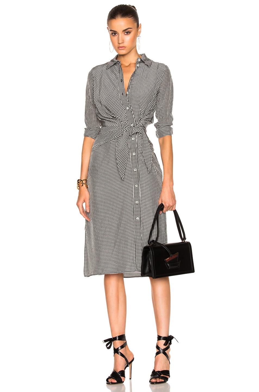Altuzarra Yuma Dress in Black,Checkered & Plaid,White