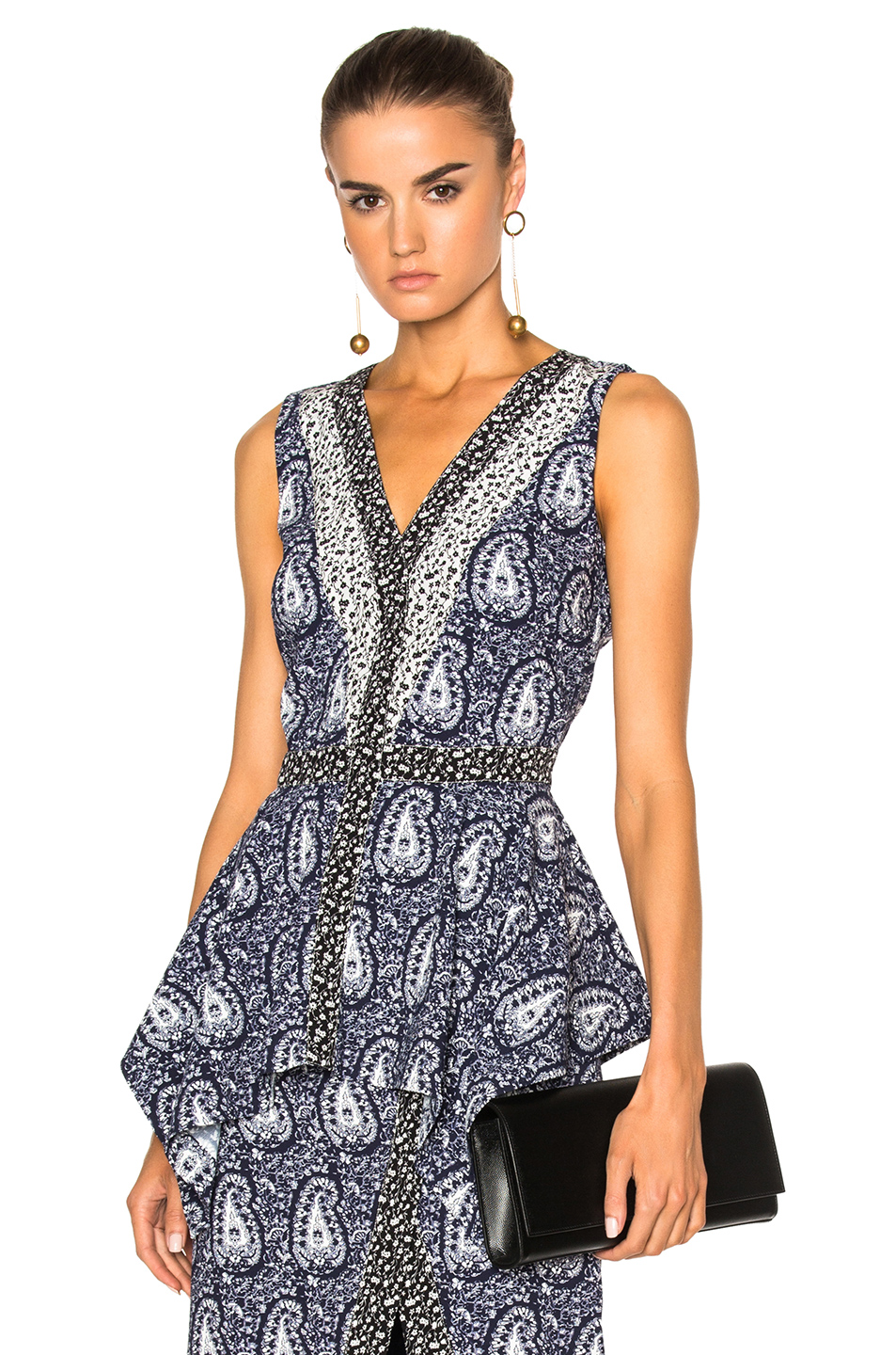 Altuzarra Elly Top in Blue,Abstract,Floral