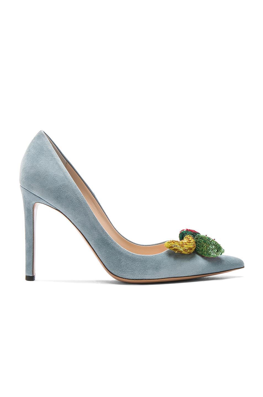 Altuzarra Suede Sierra Heels in Blue