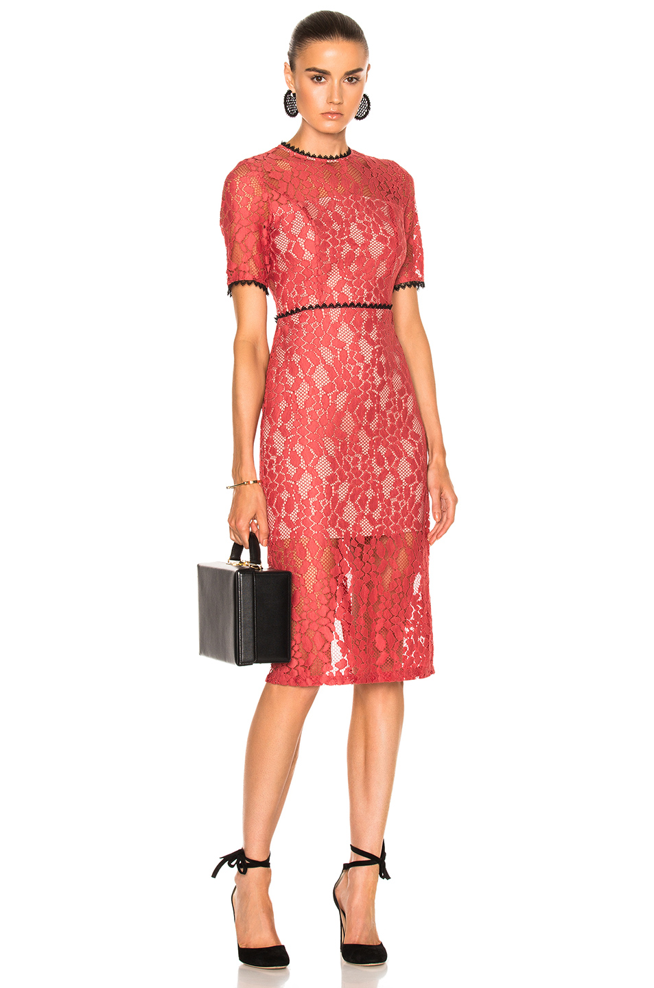 Alexis Remi Dress in Pink,Red