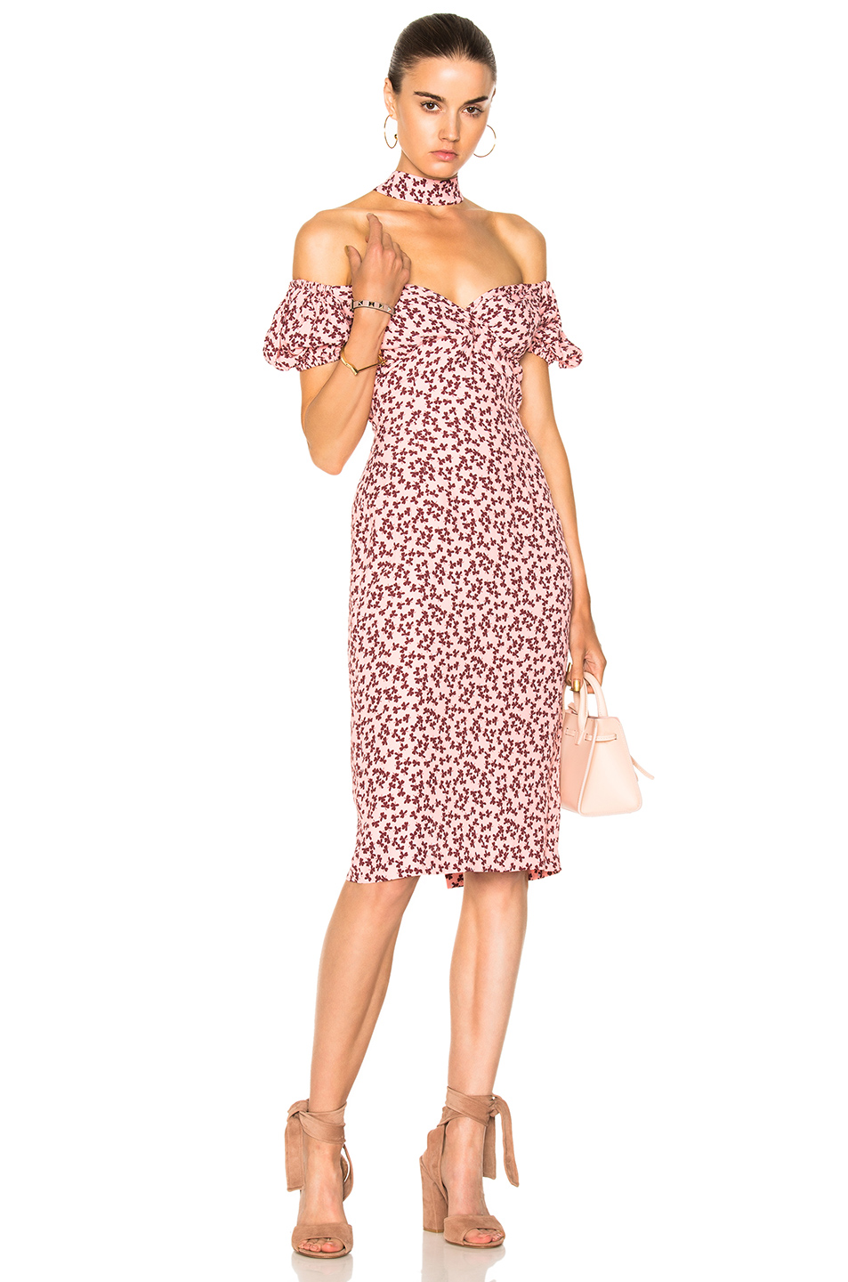 Alexis Calla Dress in Floral,Pink