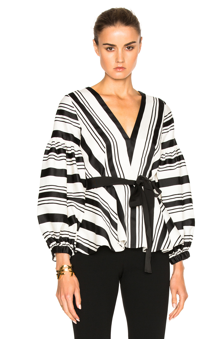 Alexis Sienna Top in Stripes