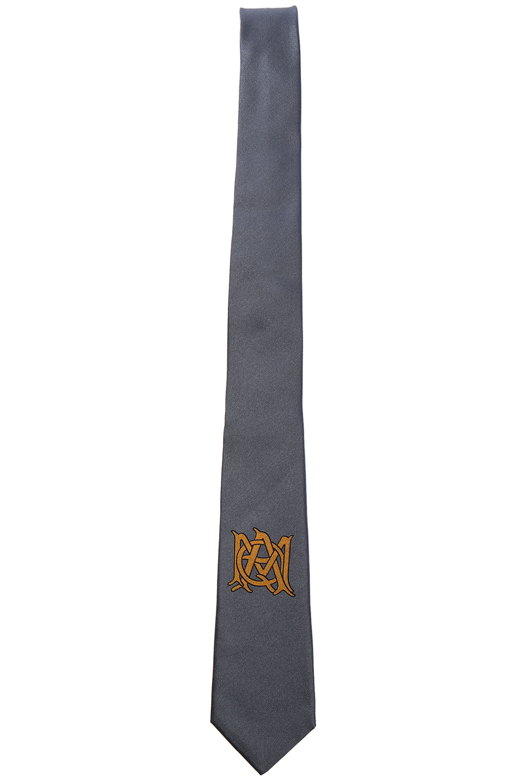 Alexander McQueen Logo Tie in Gray