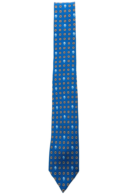 Alexander McQueen Micro Classic Tie in Blue