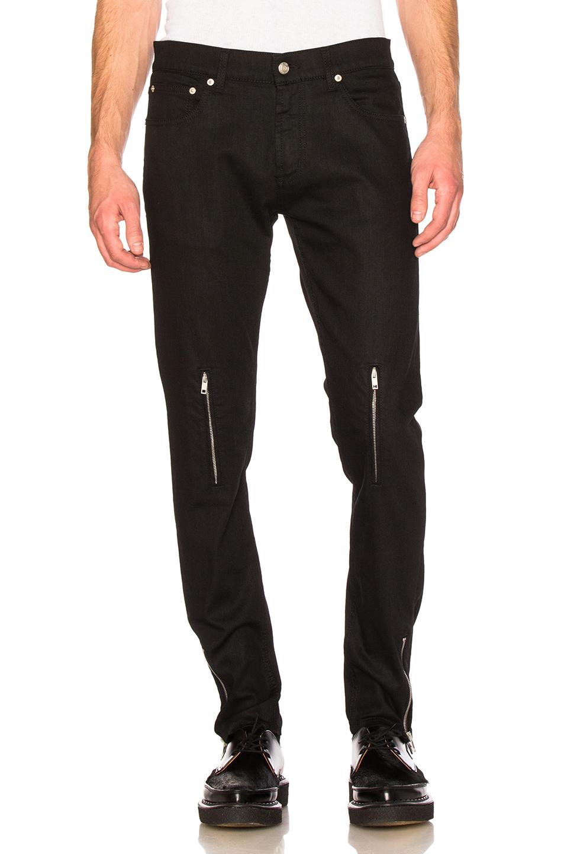 Alexander McQueen Zip Jeans in Black