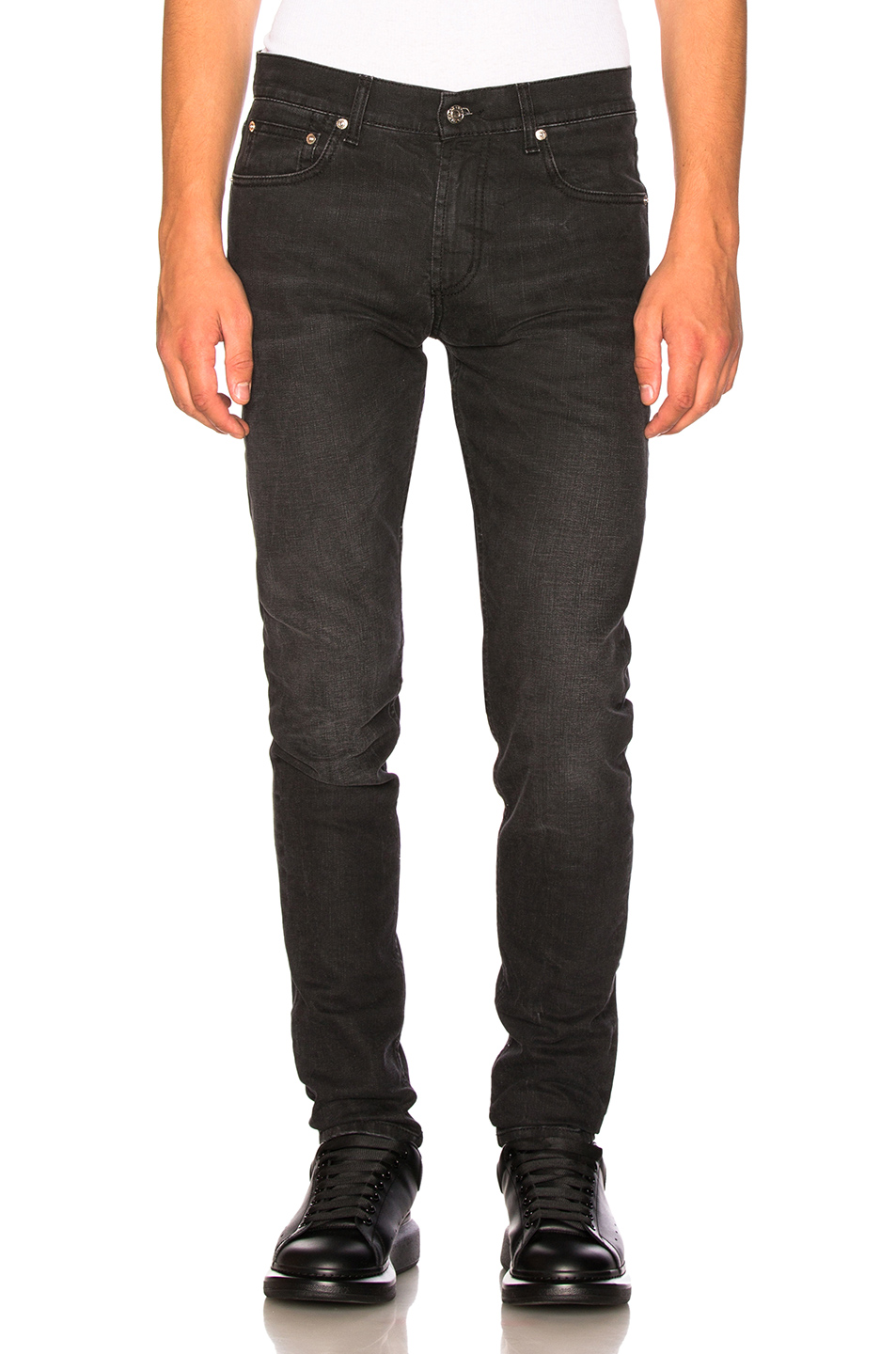 Alexander McQueen Fitted Jeans in Black