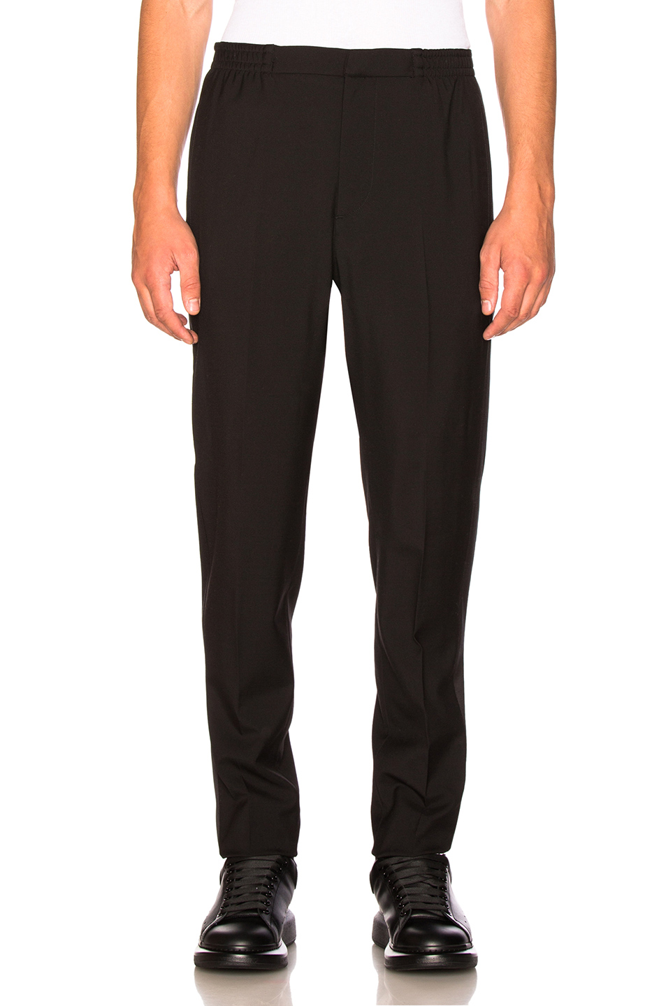 Alexander McQueen Satin Sideband Pants in Black