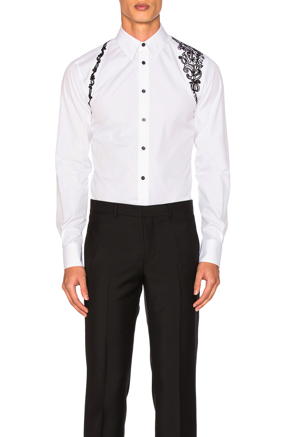 Alexander McQueen Harness Shirt in White