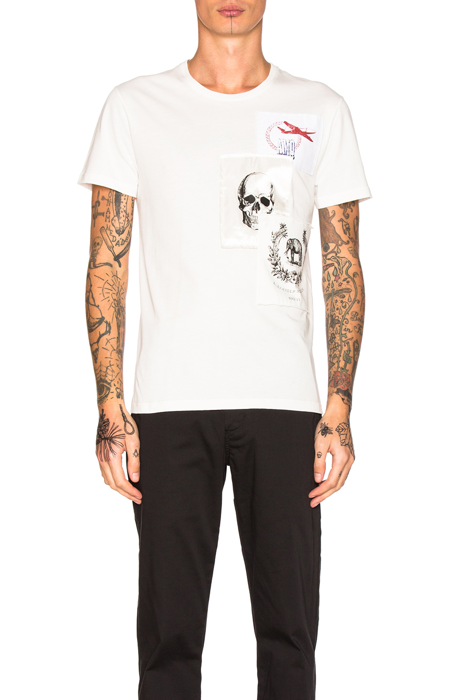 Alexander McQueen Printed Tee in White