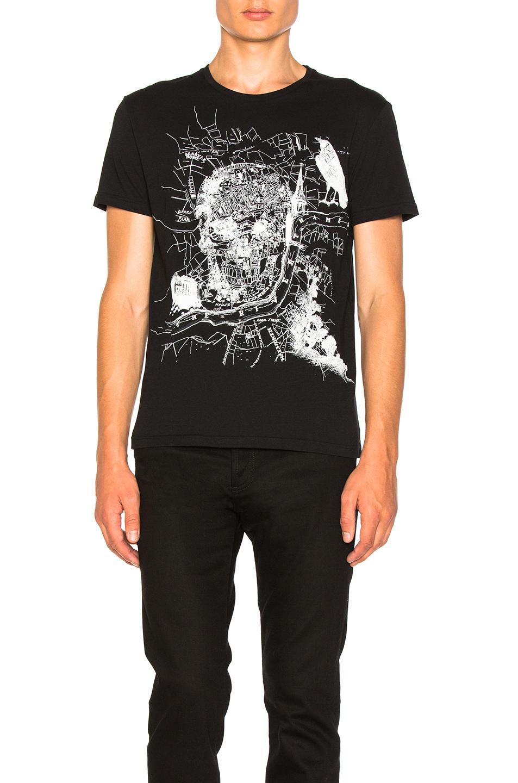 Alexander McQueen Classic Jersey Skull Tee in Black