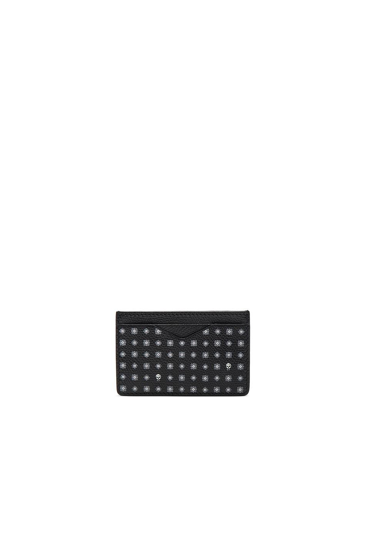 Alexander McQueen Cardholder in Black,Geometric Print
