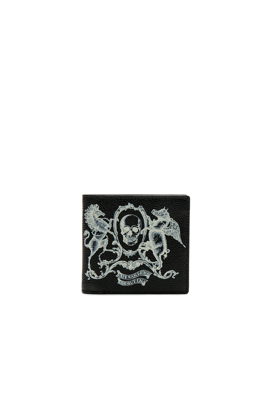 Alexander McQueen Coat of Arms Billfold Wallet in Black