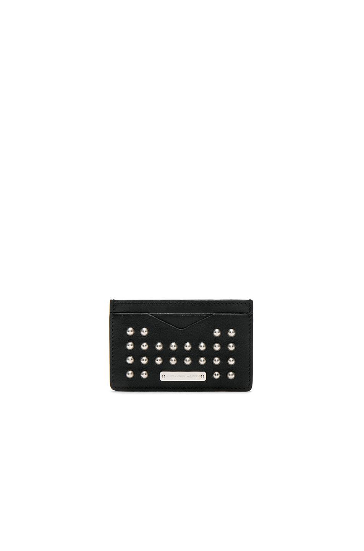 Alexander McQueen Studded Cardholder in Black