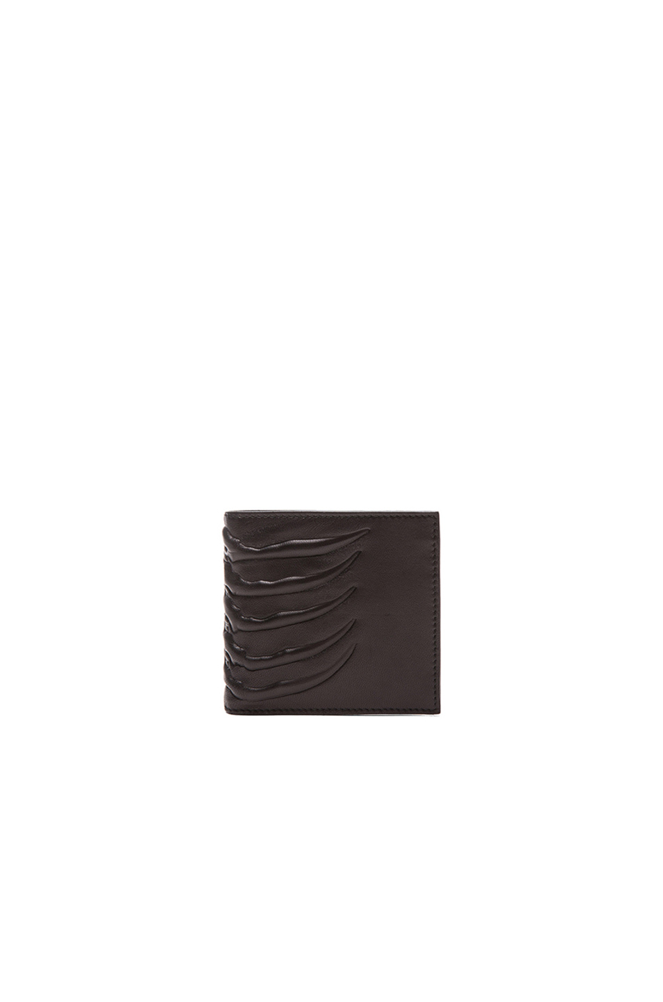 Alexander McQueen Rib Cage Billfold Wallet in Black