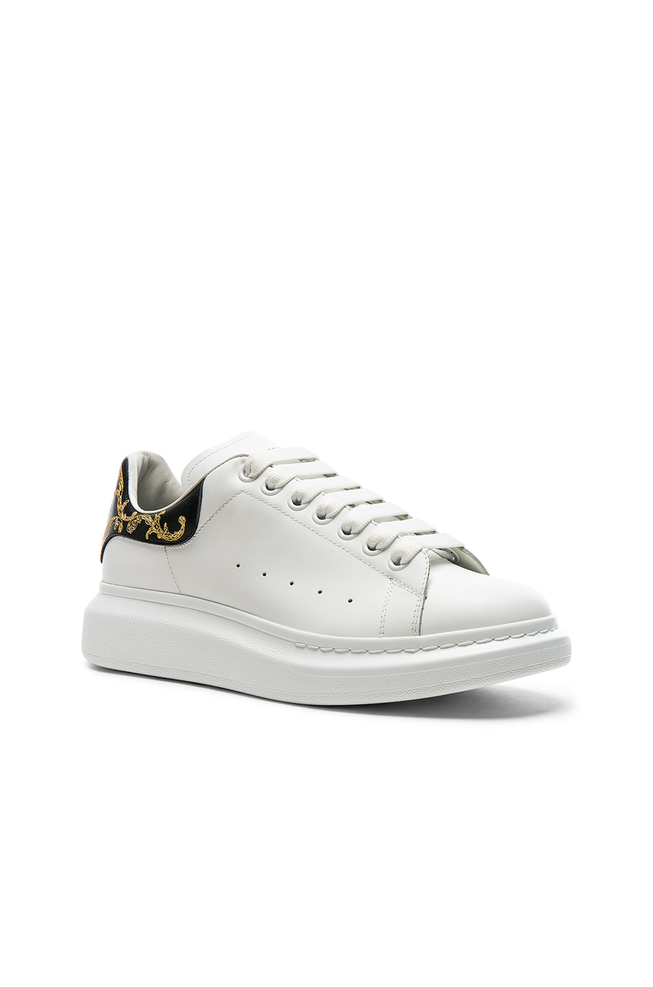 Alexander McQueen Leather Platform Sneakers in White