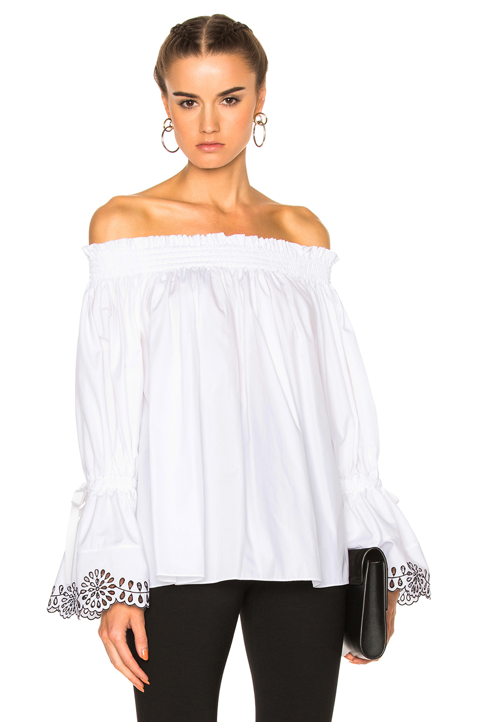 Alexander McQueen Embroidered Top in White