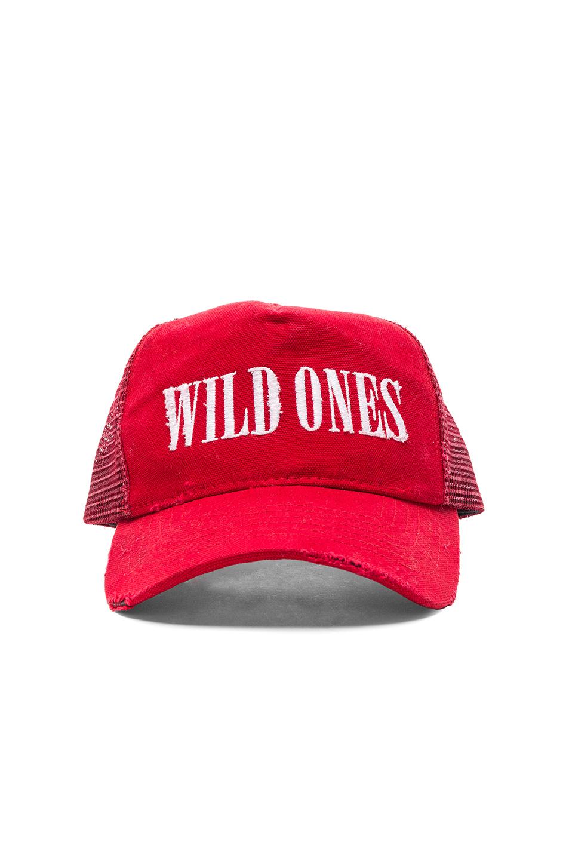 Amiri Wild Ones Trucker Hat in Red