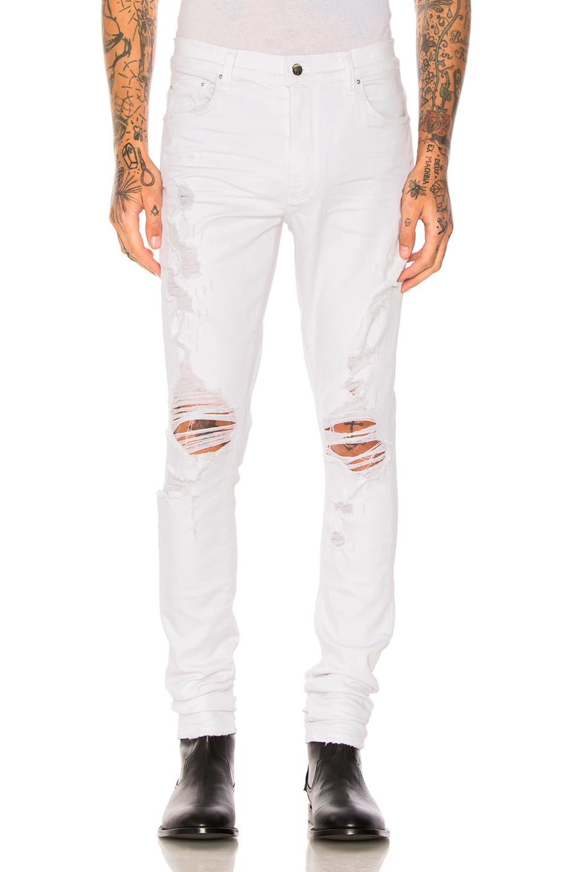Amiri Thrasher Jeans in White
