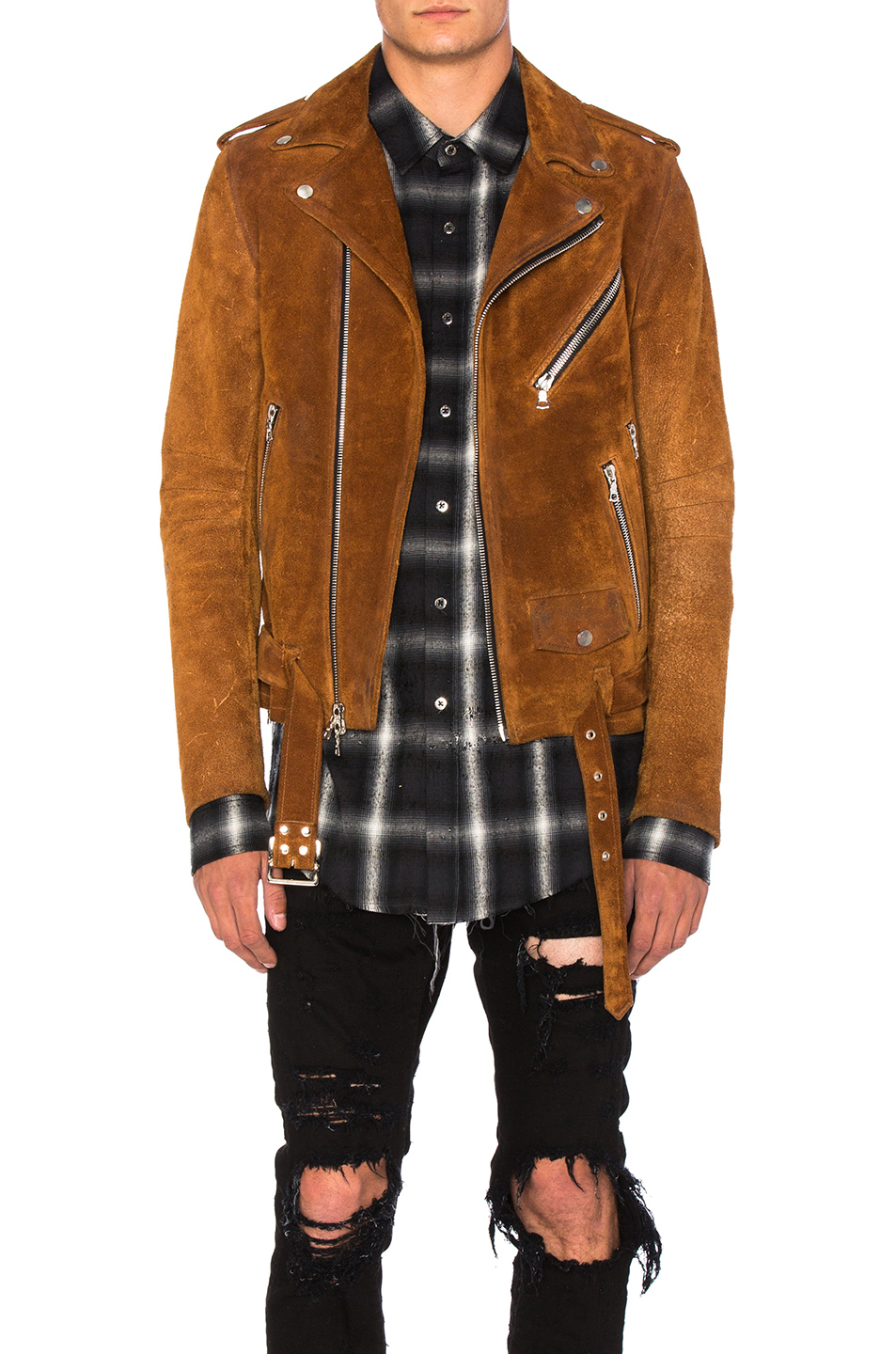 Amiri Suede Jacket in Brown