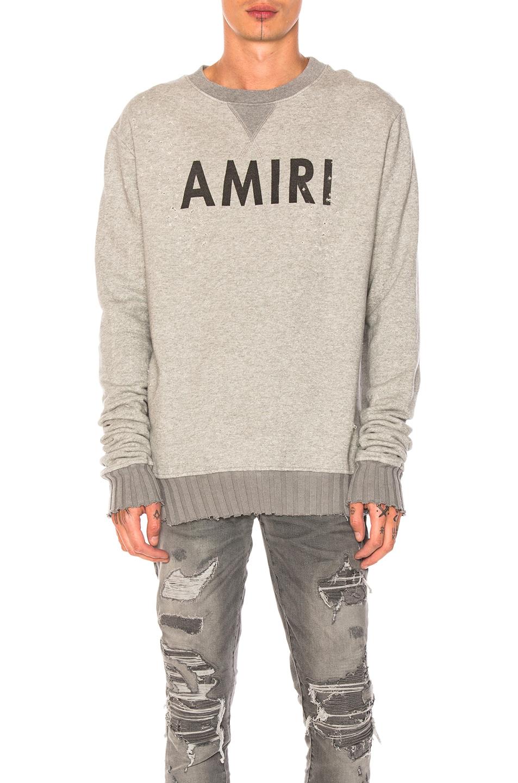 Amiri Crewneck Sweatshirt in Gray