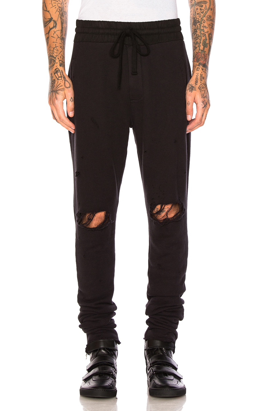 Amiri Thrasher Sweats in Black
