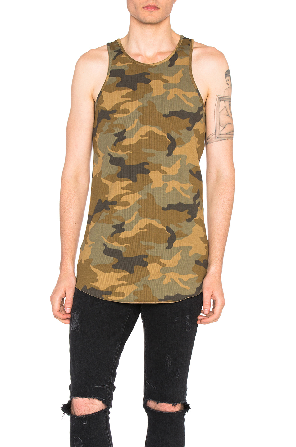 Amiri Tank in Brown,Abstract