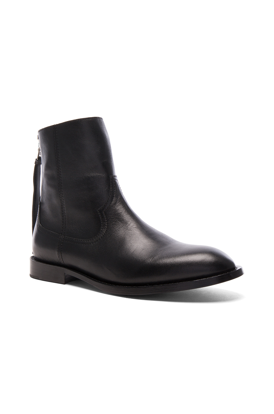 Amiri Leather Shane Boots in Black