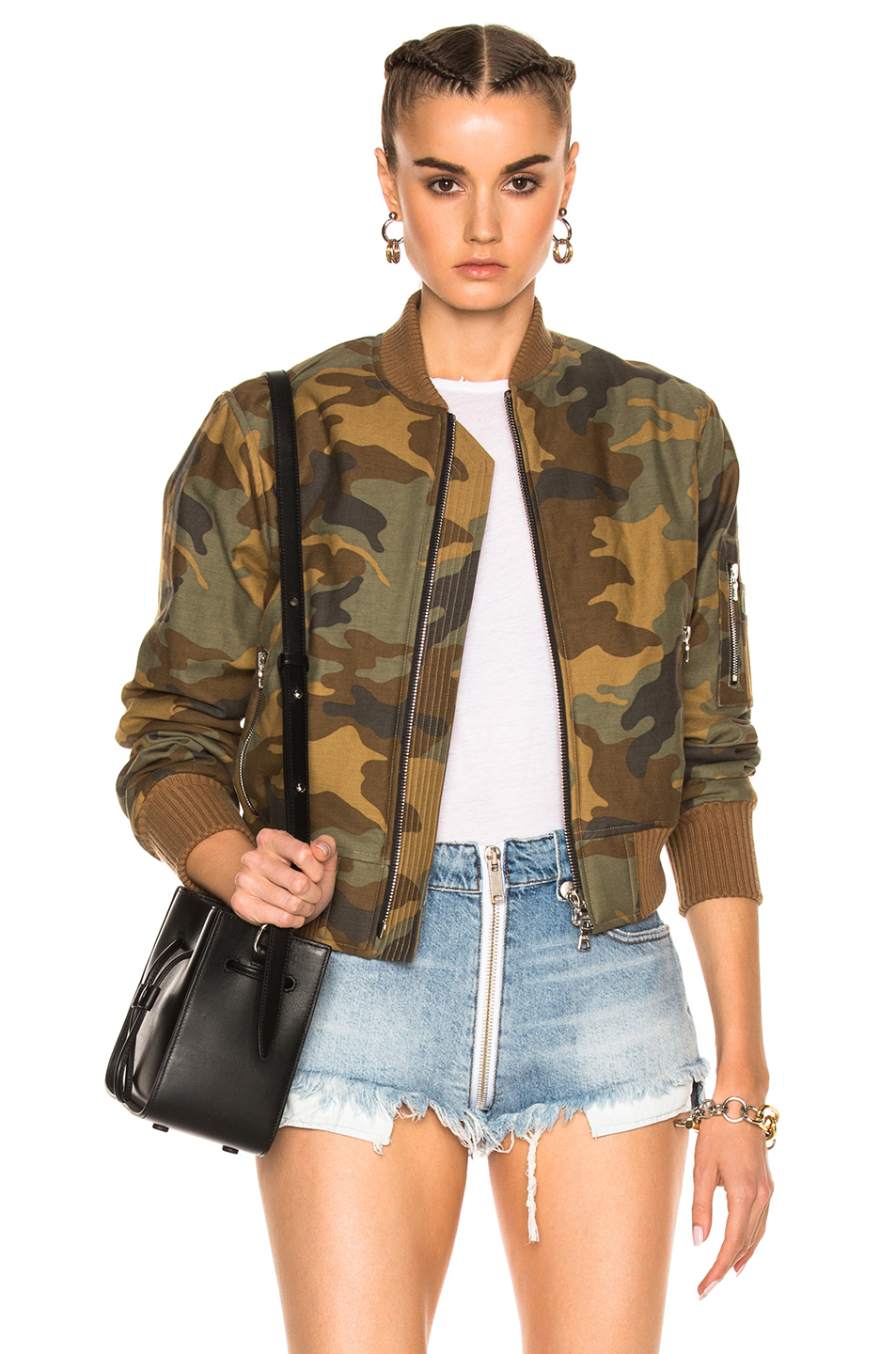 Amiri Bomber in Abstract,Brown,Green,Neutrals