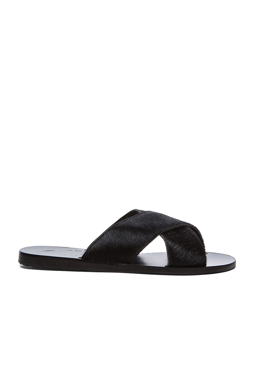 Ancient Greek Sandals Thais Pony Sandals in Black