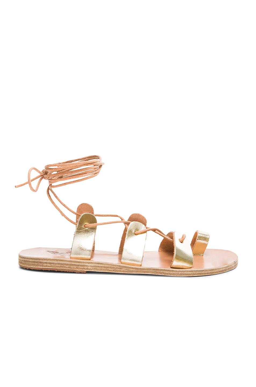 Ancient Greek Sandals Alcyone Sandals in Metallics