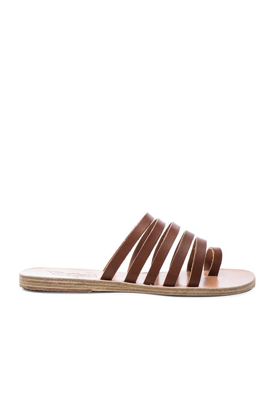 Ancient Greek Sandals Leather Niki Sandals in Brown
