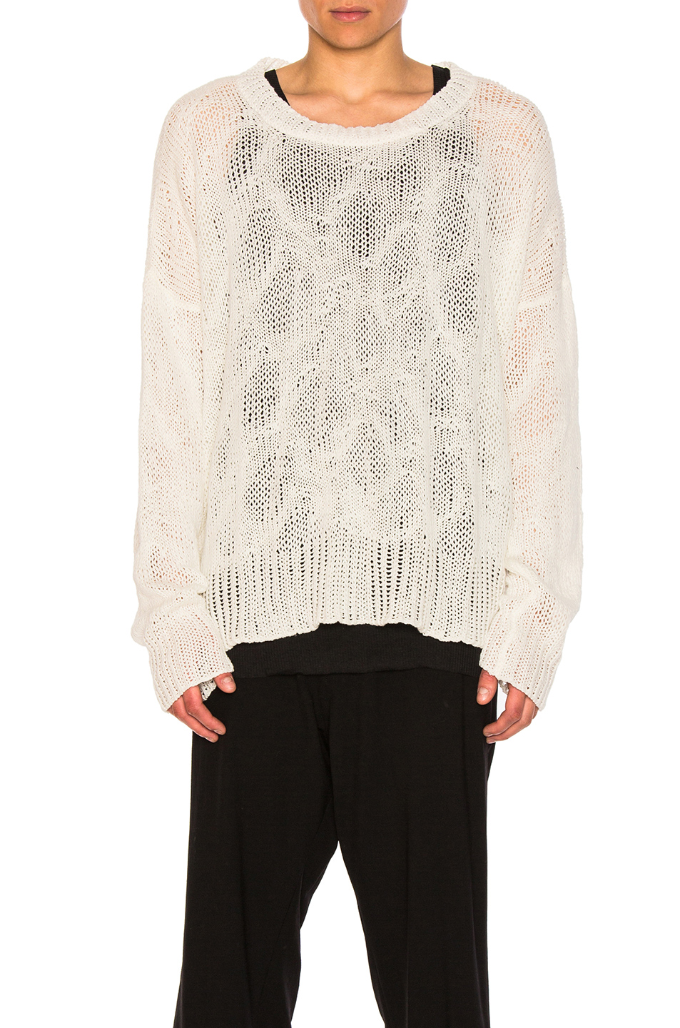 Ann Demeulemeester Sweater in White