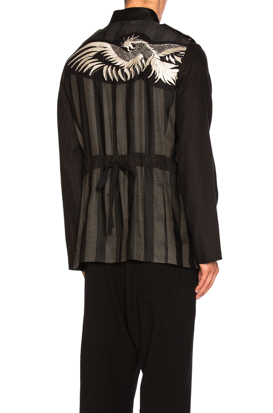 Ann Demeulemeester Jacket in Black,Stripes