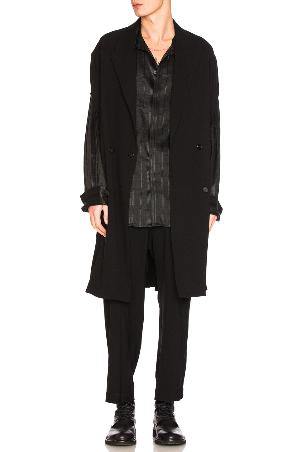 Ann Demeulemeester Cape in Black